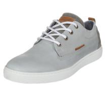 Schlichter Sneaker aus Leder hellgrau