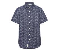 Kurzarmhemd 'nitklower' blau / weiß