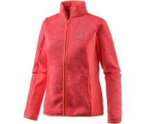 Forest Leaf Fleecejacke Damen koralle