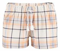 Shorts im Alloverprint mit Bindekordel blau / pfirsich / weiß