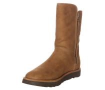 Boots mit Zipper 'Abree Short II' braun