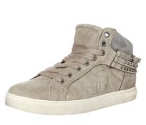 Sneaker High mit Schnallen beige