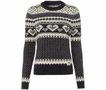Norwegerpullover »Fairisle Heart Knit« beige / dunkelgrau