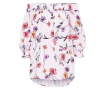 Off-Shoulder Bluse 'Nop' pink / weiß