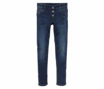 Sweatjeans Super Skinny blue denim