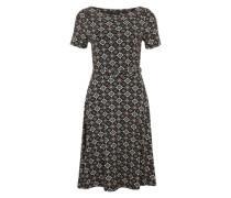 Skater-Kleid im Ornament-Look mischfarben / schwarz