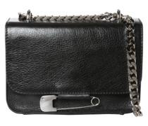 Crossover-Bag 'Flap Bag' schwarz / silber