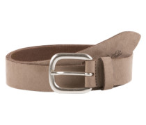 Ledergürtel 'suede leather belt with alcantara soft touch' beige