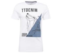 T-Shirt T-Shirt mit Print weiß