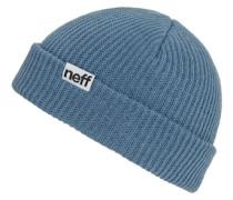 Fold Beanie grey blue taubenblau