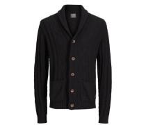 Klassischer Strick-Cardigan schwarz