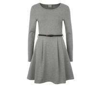 'Vmkally' Kleid aus Feinstrick hellgrau