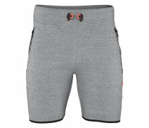 Shorts 'gym Tech Slim Short' grau / schwarz
