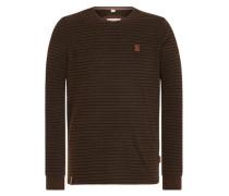 Sweatshirt 'Kommt Ein Dünnschiss Iii' dunkelbraun