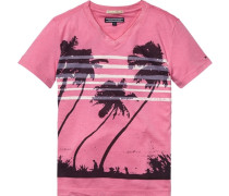 T-Shirt »Roderick VN TEE S/s« pink / schwarz / weiß