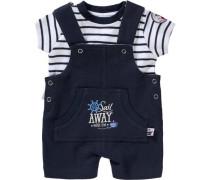 Baby Set T-Shirt + Latzhose für Jungen blau