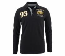 Langarm-Poloshirt »Piqué Qualität« schwarz
