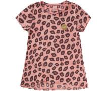 T-Shirt für Mädchen dunkelbraun / rosa