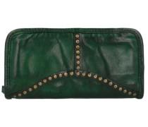 Portafoglio Geldbörse Leder 21 cm grün