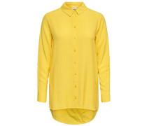 Lockeres Langarmhemd gelb