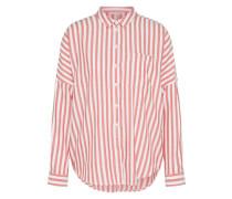 Bluse 'casual Stripe' rot / weiß