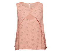 Top mit Cut Out pink / rot