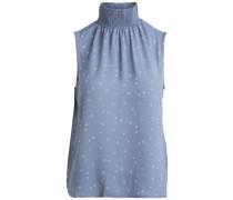 Ärmellose Bluse himmelblau / grau