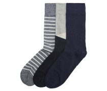 Socken 3er-Pack anthrazit
