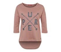 EDC BY ESPRIT Sweatshirt mit 1/2-Arm pink