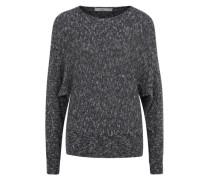 Grobstrick-Sweater blau