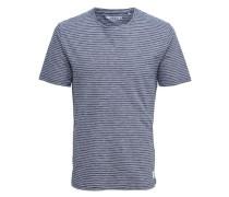 T-Shirt Gestreiftes blau