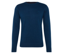 Pullover 'basic crew-neck sweater' navy