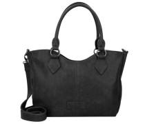 'Beatrisa' Nubuck Shopper Tasche 36 cm schwarz