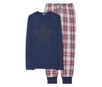 Schlafanzug 'Calla' navy / mischfarben