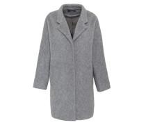 Stehkragen-Mantel mit Mohair grau