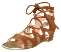 Sandale zum Schnüren braun