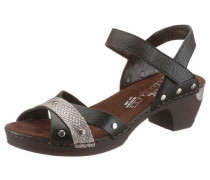 Sandalette greige / schwarz