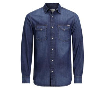 Klassisches Langarmhemd blue denim