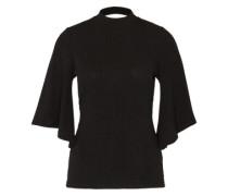 Shirt 'rib Flare Sleeve' schwarz