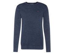 Sweatshirt 'thdm Textured CN Sweater L/S 17' mit Struktur indigo