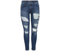 Skinny Fit Jeans Carmen reg ankle blue denim