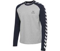T-shirt L/S grau / blau