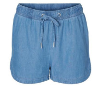 Chambray-Shorts 'Vmemilia' blue denim