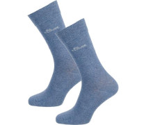 2 Paar Socken taubenblau