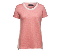 Kurzarm-Sweater mit Zipper 'Bassus' beige / pink