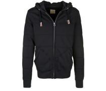 Kapuzensweatjake 'hooded Lined Jacket' schwarz