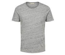 T-Shirt Rundhalsausschnitt graumeliert