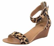 Sandale C'har Leopard' beige / dunkelbraun