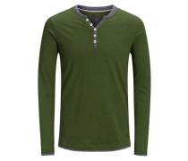 Klassisches T-Shirt mit langen Ärmeln grün