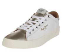 Sneaker 'Stadium' beige / gold / weiß